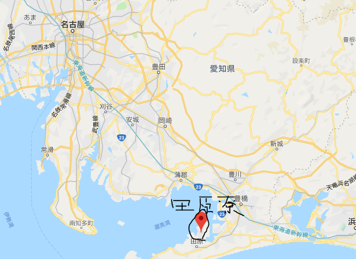 アイシンaw田原寮周辺
