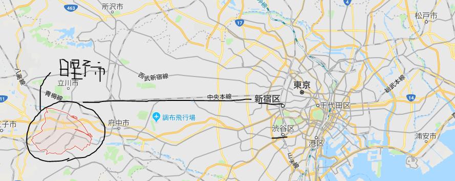 日野の地図